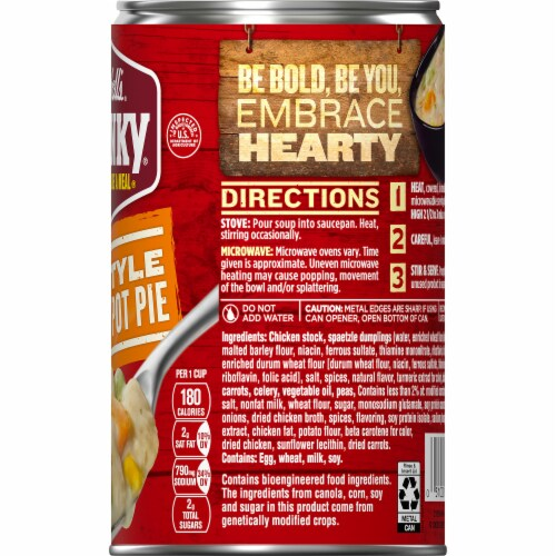 Campbell's Chunky Pub-Style Chicken Pot Pie Soup Perspective: top