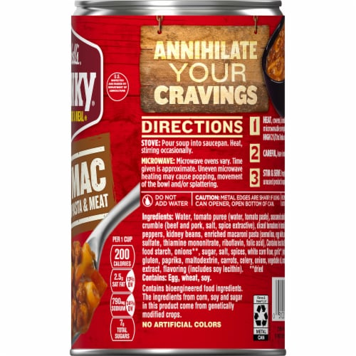 Campbell's Chunky Chili Mac Soup Perspective: top