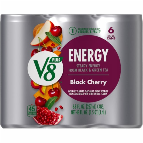 V8 +Energy Black Cherry Beverage Perspective: top