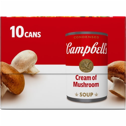 Campbell's® Condensed Cream of Mushroom Soup Perspective: top