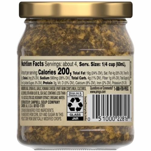 Prego Basil Pesto Sauce Perspective: top
