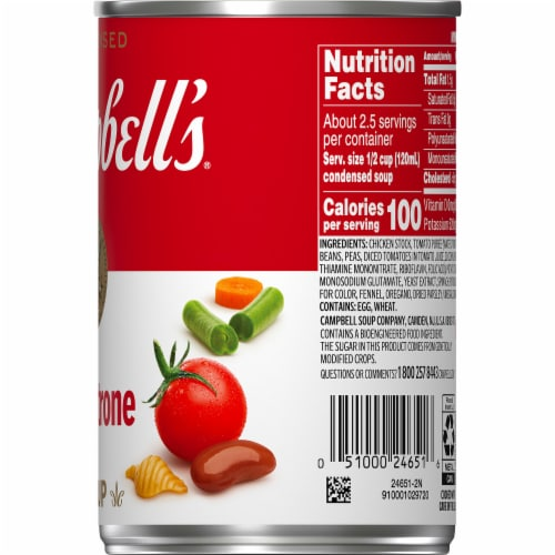 Campbell's® Condensed Minestrone Soup Perspective: top