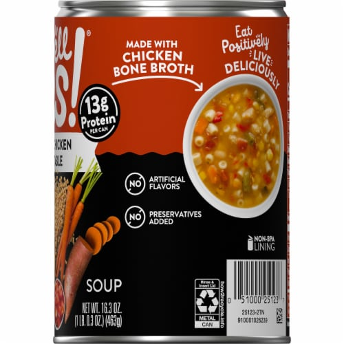 Campbell's® Well Yes!® Roasted Chicken and Vegetable Soup Perspective: top