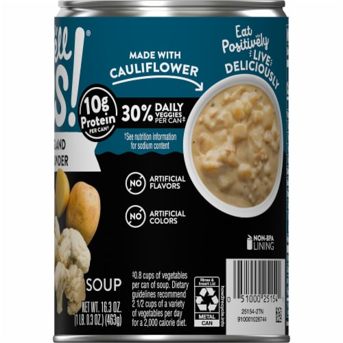 Campbell's Well Yes! New England Clam Chowder Soup Perspective: top