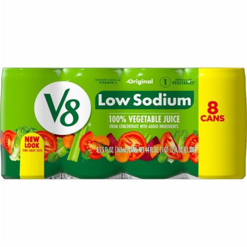 V8 Original Low Sodium Vegetable Juice Perspective: top