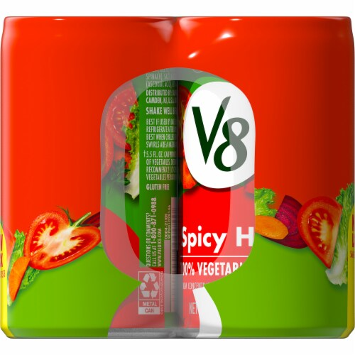 V8 Spicy Hot Vegetable Juice Perspective: top