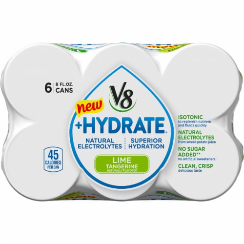 V8 +Hydrate Lime Tangerine Beverage Perspective: top