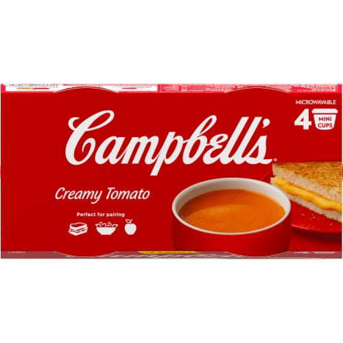 Campbell's Creamy Tomato Soup Perspective: top