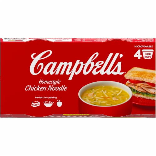 Campbell's Microwaveable Cups Homestyle Chicken Noodle Soup Perspective: top