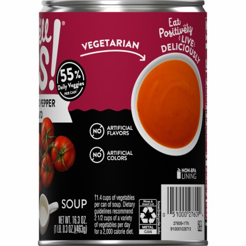 Campbell's Well Yes! Roasted Red Pepper & Tomato Soup Perspective: top
