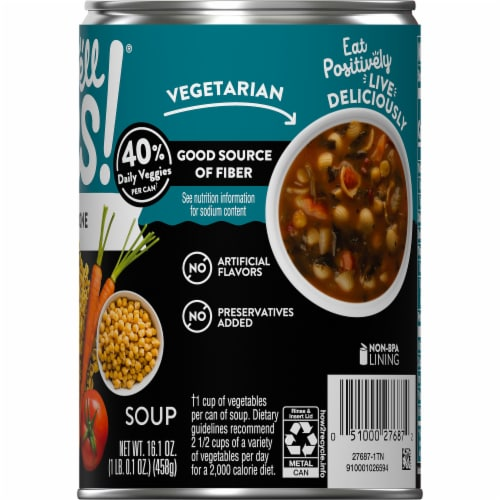 Campbell's Well Yes! Minestrone Soup Perspective: top