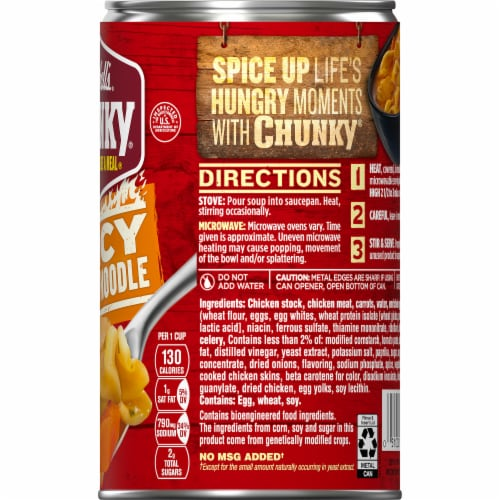 Campbell's Chunky Spicy Chicken Noodle Soup Perspective: top