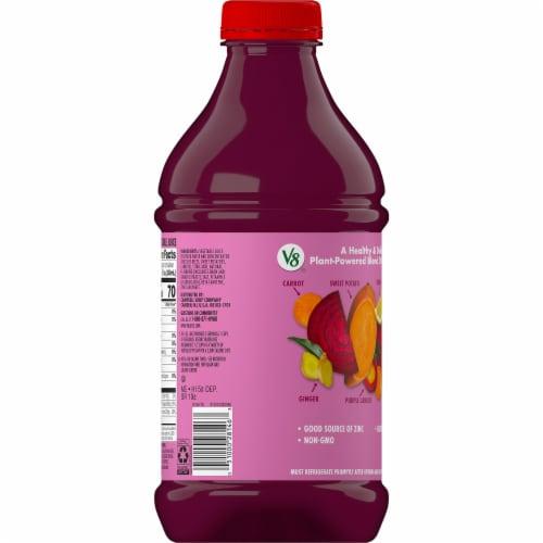 V8 Beet Ginger Lemon Vegetable Juice Perspective: top