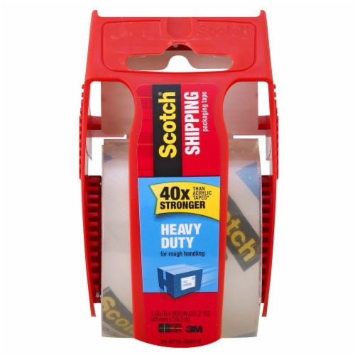 Scotch® Heavy Duty Packaging and Shipping Tape with Dispenser - Clear Perspective: top
