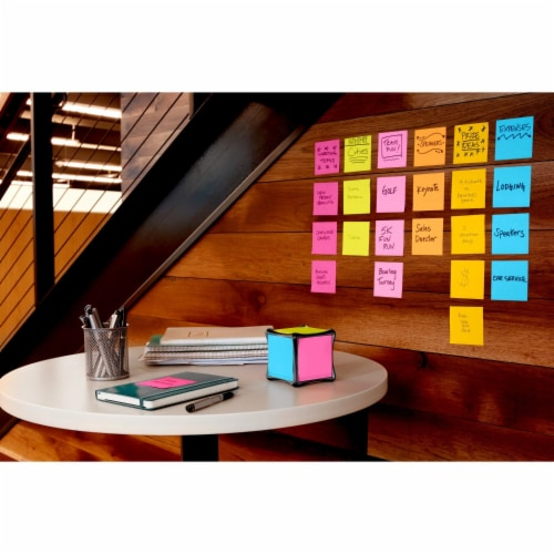 Post-it®  Super Sticky Notes - 12 Pack - Assorted Perspective: top