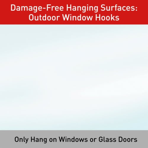 Command™ Outdoor Damage-Free Window Hooks Value Pack Perspective: top