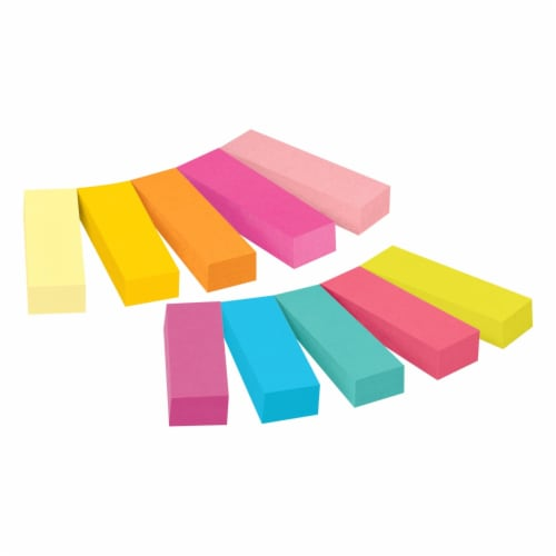 Post-it® Page Markers - 10 Pack - Assorted Perspective: top