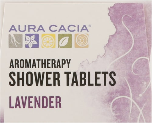 Aura Cacia Relaxing Lavender Shower Tablets Perspective: top