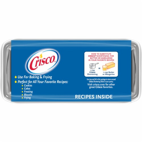 Crisco Shortening Sticks 3 Count Perspective: top