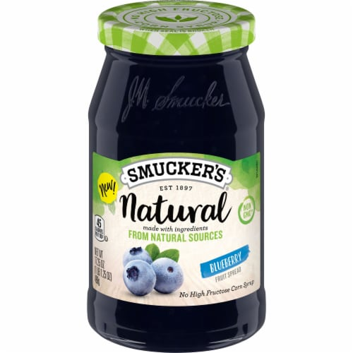 Smucker's Natural Blueberry Fruit Spread Perspective: top
