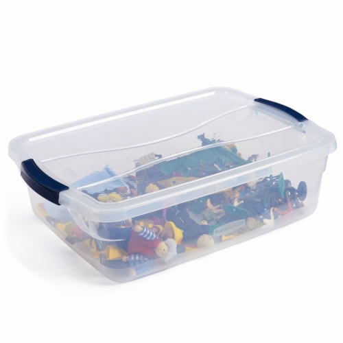 Rubbermaid Cleverstore 16 Quart Plastic Storage Tote Container with Lid (6 Pack) Perspective: top