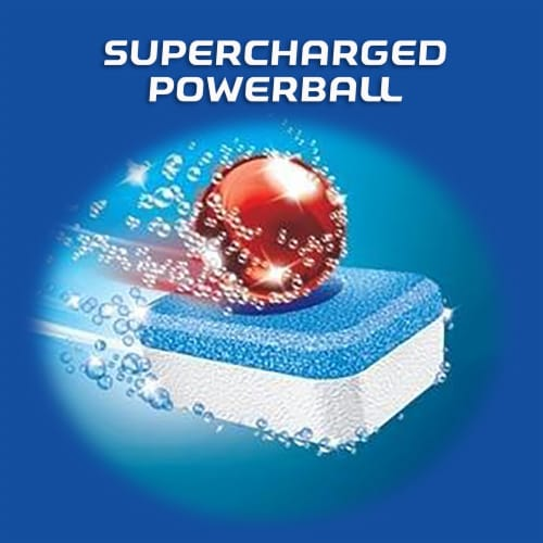Finish Powerball Max in 1 Dishwashing Tablets Perspective: top
