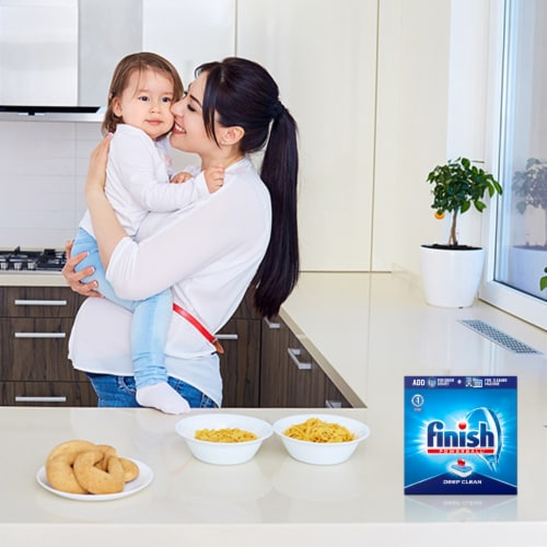 Finish Powerball Deep Clean Dishwashing Tablets Perspective: top