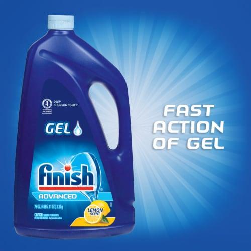 Finish Advanced Orange Scent Gel Dishwasher Detergent Perspective: top
