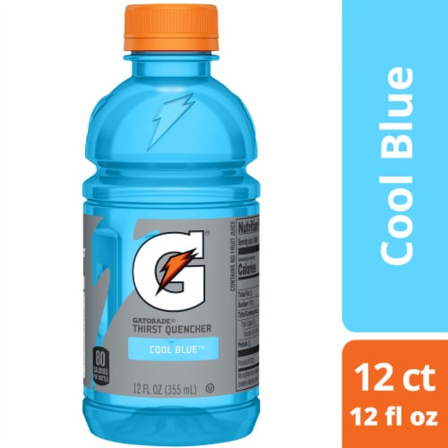 Gatorade G Cool Blue Electrolyte Enhanced Sports Drink Perspective: top
