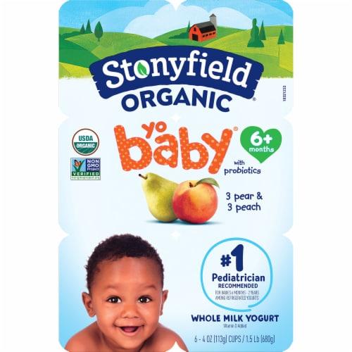 Stonyfield® Organic YoBaby Peach & Pear Whole Milk Yogurt Perspective: top