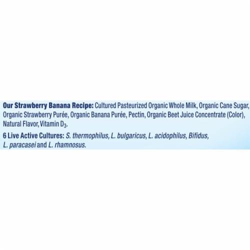 Stonyfield® Organic Kids Strawberry Banana Whole Milk Yogurt Perspective: top