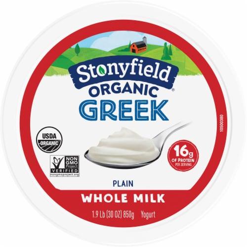 Stonyfield® Organic Plain Whole Milk Greek Yogurt Perspective: top