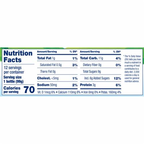 Stonyfield® Organic Kids Strawberry Lowfat Yogurt Smoothies Drinks Perspective: top