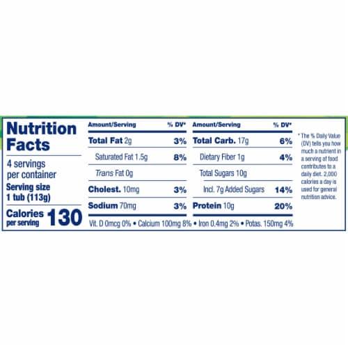 Stonyfield Organic Strawberry Yogurt and Choco Chips Low Fat Yogurt Perspective: top