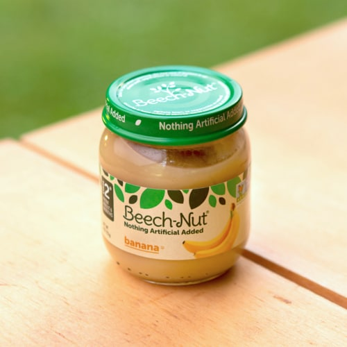 Beech-Nut Banana Stage 2 Baby Food Perspective: top