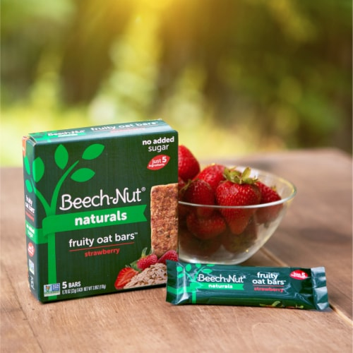 Beech-Nut Naturals Strawberry Fruity Oat Bars Perspective: top