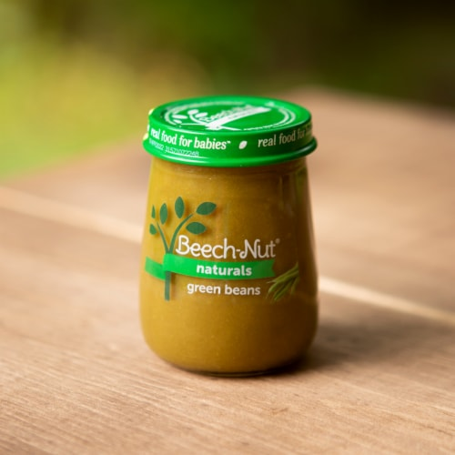 Beech-Nut Naturals Green Beans Stage 1 Baby Food Perspective: top