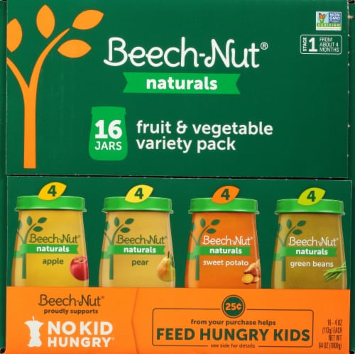 Beech-Nut Naturals Stage 1 Baby Food Fruit & Vegetable Variety Pack Perspective: top