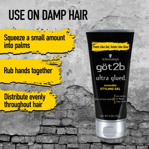 got2b® Ultra Glued Invincible Styling Gel Perspective: top
