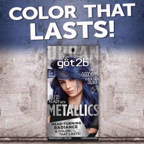 Got2b Blue Mercury Permanent Hair Color Perspective: top