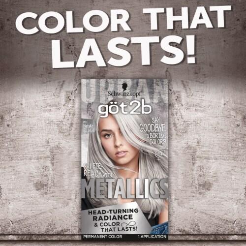 got2b® Metallics Metallic Silver Permanent Hair Color Perspective: top