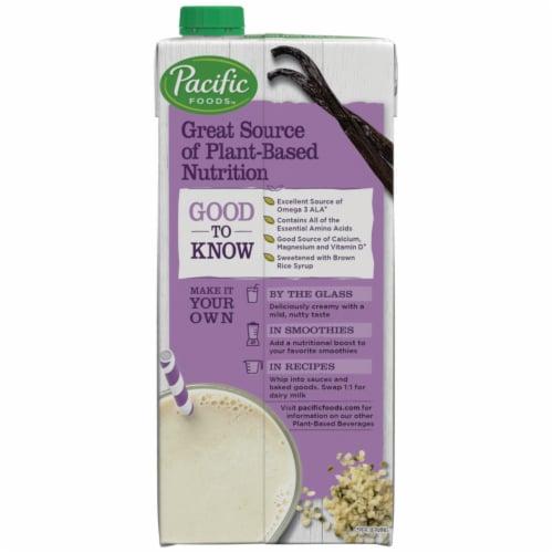 Pacific Foods™ Vanilla Hemp Beverage Perspective: top