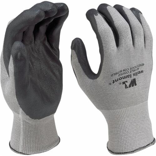 Wells Lamont Men's Large Fine Gauge Knit Nitrile Coated Glove Perspective: top