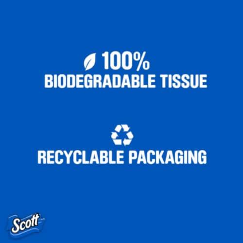 Scott® Unscented Bathroom Tissue Perspective: top