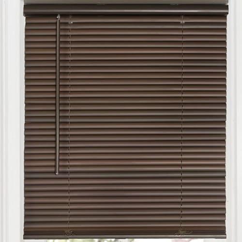 Achim Cordless GII Deluxe Sundown 1 Inch Vinyl Window Room Darkening Mini Blinds Perspective: top