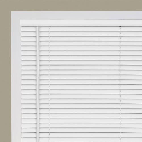 "Cordless GII Deluxe Sundown 1"" Room Darkening Mini Blind 39x64 - Pearl White Perspective: top"