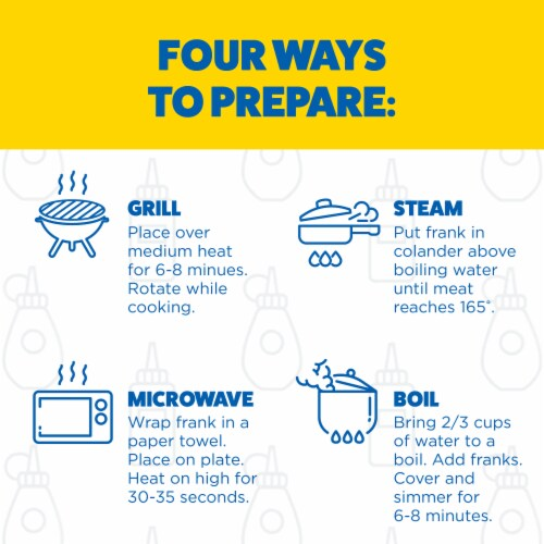 Ball Park Angus Beef Hot Dogs Original Length Perspective: top