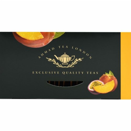 Peach & Passion Fruit Flavoured Black Tea Bags Perspective: top