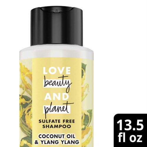 Love Beauty and Planet Hope & Repair Coconut Oil & Ylang Ylang Shampoo Perspective: top