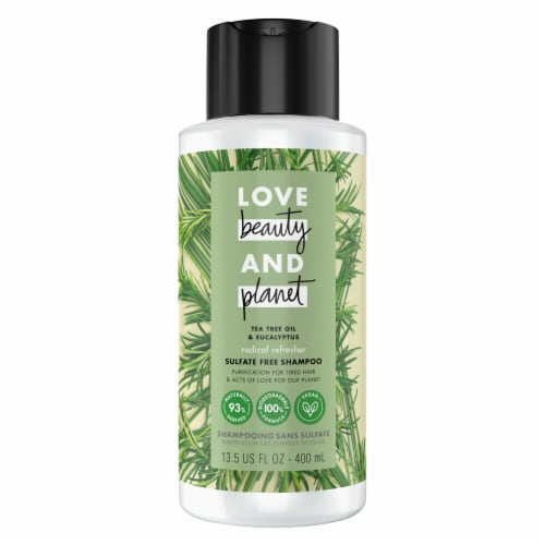 Love Beauty and Planet Radical Refresher Tea Tree Oil & Vetiver Shampoo Perspective: top